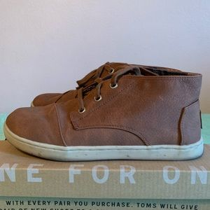 Toms Kids Paseo Mid Brown Synthetic Leather